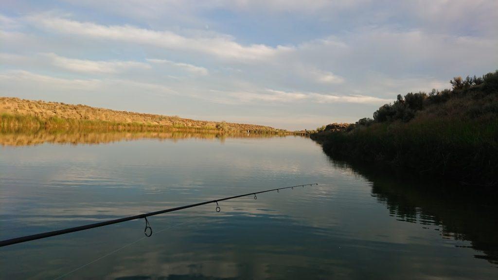 Fishing time in the desert