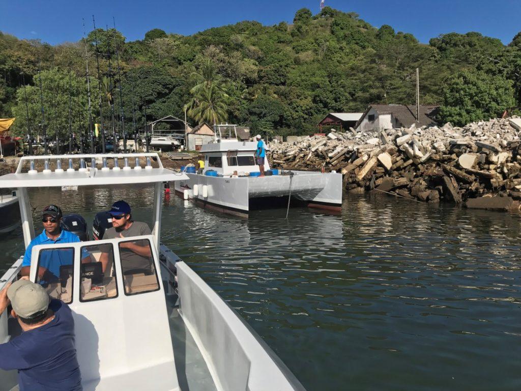 Les catamarans du Radam Fishing Camp