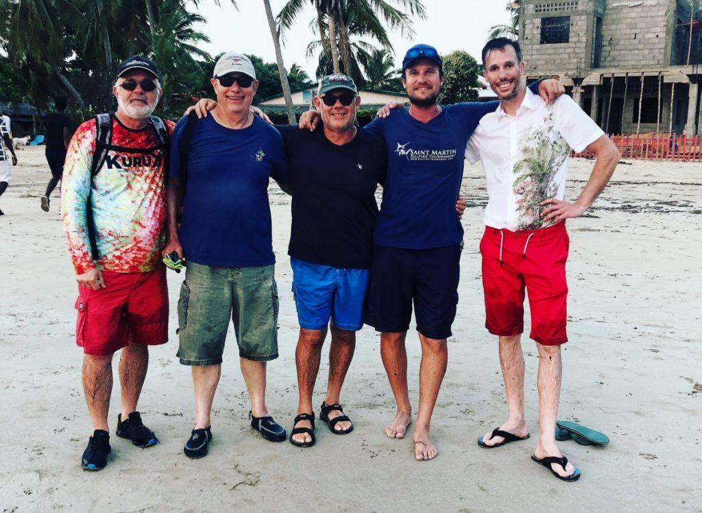 La fine équipe de pêcheurs de la semaine