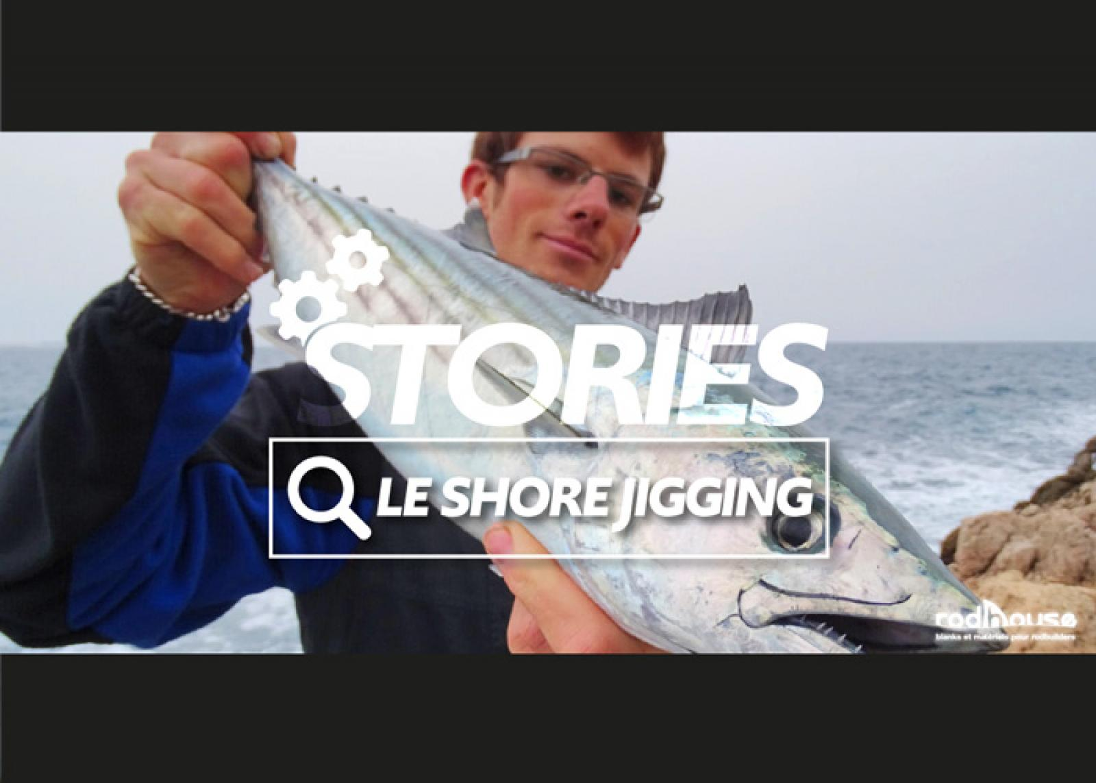 peche d'un poisson en shore jigging