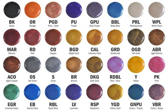 CRB powder marbling pigments