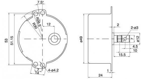 Motor de 9rpm y 220V