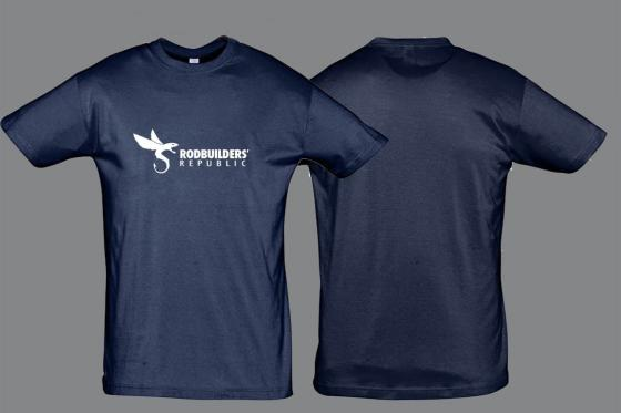 T-shirt blue/white